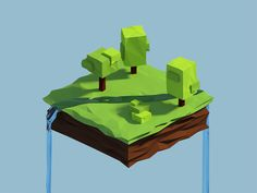 Low Poly Piece Of Land