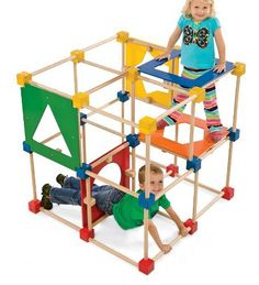 Main image for Square Climber Wooden Climbing Cube Climbing Dome, Indoor Climbing, Kids Climber, Toddler Climbing, Indoor Playground, Playground Ideas, Outdoor Toys, Outdoor Play, Kids Playing