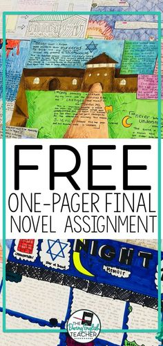 Assigning students a one-pager final novel assignment is a fun, creative, and engaging alternative to an essay. When I assign this project in my classroom, I provide my students with some choice options. 6th Grade Ela, 6th Grade Reading, Ela Classroom, English Classroom, Future Classroom, Reading Projects, Book Projects, Book Report Projects, Professor