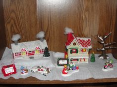 Homemade Christmas Village