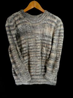 Hand knit wool sweater by MariyaMitov on Etsy Wool Sweaters, Hand Knitting, I Shop, Men Sweater, Trending Outfits, Handmade, Etsy, Shopping, Vintage