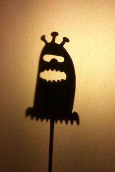 Handcut Brass Shadow Puppet, Alien #2 on Etsy, $35.00