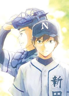 Battery | This is going to air this July, 2016. It's really unknown. I know this because this is literally the only pin here dedicated to it. It's a sports anime (pretty obvious), and it's a baseball plot. Baseball sports anime is really rare, and I can't seem to get my head out of it. I know, it's a bit weird to see this type of anime that makes me anticipate for it.