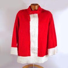 Ugly Christmas Vintage Santa's Jacket by purevintageclothing