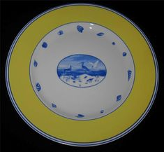 Lynn Chase COSTA AZZURRA Charger or Service Plate | Pottery & Glass, Pottery & China, China & Dinnerware | eBay!