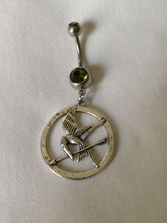 This makes me want to get my bellybutton pierced, Mocking Jay Belly Ring!