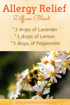 Even though spring can be a beautiful time of year, it leaves a lot of us with that awful itchy nose, watery eye feeling. Using this diffuser blend in the morning has me no longer fearing the great outdoors.  For other blends and essential oil helpful hints, check out our website. http://www.emmisessentials.com/