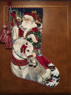 Beautiful Stitching Needlepoint Christmas Stocking Kits, Cross Stitch Christmas Stockings, Cross Stitch Stocking, Needlepoint Stockings, Needlepoint Stitches, Needlepoint Canvases, Needlework, Fun Christmas, Christmas Trends