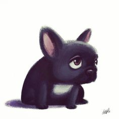 children Illustration Sad - French Bulldog Playful and Smart Children's Book Illustration, Illustration Children, Animal Design, Animal Drawings, Cute Art, Cute Dogs, Cute Pictures, Cute Animals, Sketches