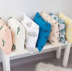 maker spotlight : confetti riot - almost makes perfect Cute Pillows, Diy Pillows, Decorative Pillows, Cushions, Best Pillows For Sleeping, Decoration Cactus, Diy Home, Home Decor, Pillow Design