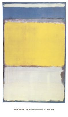 Rothko - I can't wait to experience one of his paintings someday