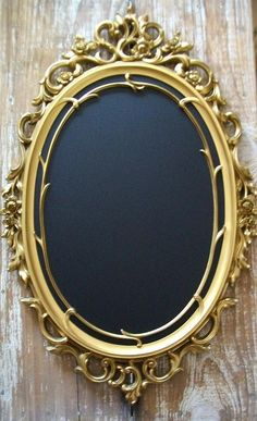 French Country-Tres Chic Large Ornate 'RaRe' Vintage Double Framed Chalkboard & Mirror-Weddings-Receptions