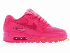 competitive price 801e4 5da2f Boutique Nike Air Max 90 2007 GS Chaussures Nike Pas Cher Pour Femme Hyper  Pink/Vivid Pink
