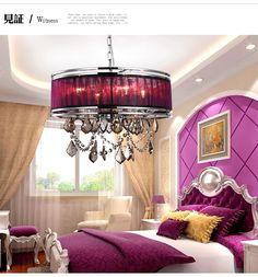 Джейн Европейский Индийский фиолетовый пряжи круглый ресторан люстра спальня люстра татами дома сад палубе бар - Taobao