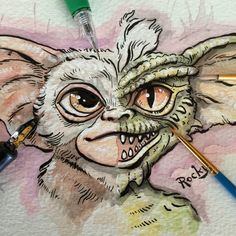 Gremlin Halfbreed by RockyDavies on DeviantArt Graffiti Drawing, Street Art Graffiti, Gizmo Tattoo, Animal Drawings, Cute Drawings, Armour Tattoo, Collages, Gremlins Gizmo, Sharpie Drawings