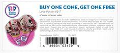 Baskin Robbins: BOGO Cone Coupon