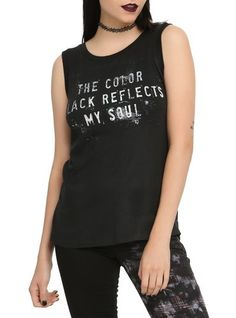 Black Reflects My Soul Girls Muscle Top