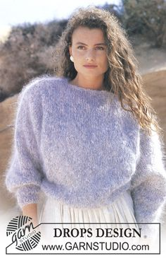 Ravelry: Jumper pattern by DROPS design Jumper Patterns, Chunky Knitting Patterns, Free Knitting, Pull Angora, Gros Pull Mohair, Drops Design, Big Knits, Knitwear Fashion, Mohair Sweater