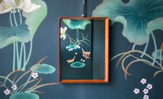 misha handmadewallpaper, the charming pond brings a hint of life and dynamism to the bathroom
