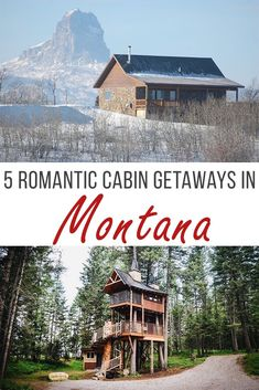 Breathtaking views of mountains and wildlife surround you during the day. Campfires crackle and sparkling stars shine during the night. There's no doubt that Montana is the perfect getaway for the adventurous couple. If you like the idea of cozying up in a rustic cabin, the Treasure State holds romantic perfection waiting for you. Read on for the top 5 very different cabin experiences and what romantic things you can do at each location.  #montana #cabins #romanticgetaways #getaways…
