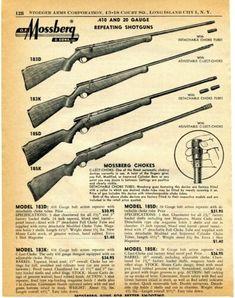 1958 Print Ad of Mossberg Model Repeating Shotgun Print Ads, Shotgun, Vintage Advertisements, Repeat, Advertising, Model, Ebay, Print Advertising