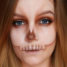 Orange Skull | 10 Spooky Skeleton Makeup Ideas You Should Wear This Halloween