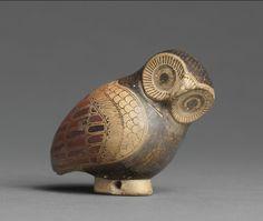 Corinthian Aryballos in the Shape of an Owl, Corinth, Greece, Circa 640 BC