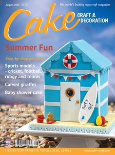 I love this magazine from Britain.  The subscription is a bit pricey but it is worth the inspiration.  Cake Craft & Decoration – August 2014, issue 189