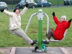 Susan Edgar (left) and Sylvia Bramall enjoying the