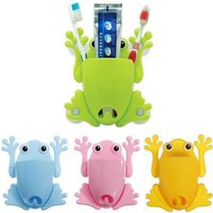1PC Newly Design Cute Frog Toothbrush Makeup Tools Wall Stick Paste Organizer Holder Hook Bathroom Sets Free Shipping #Affiliate