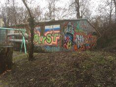 L'interno del quartiere di Christiania