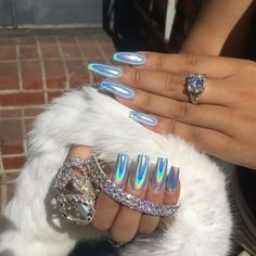 •• Nails | Blue Unicorn Nails ••
