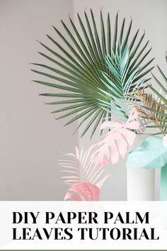 Dried Flower Arrangements, Dried Flowers, Diy Party Decorations, Paper Decorations, Paper Flower Decor, Paper Plants, Cute Diy Projects, Paper Leaves, Leaf Crafts