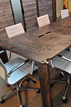 raw steel desk top