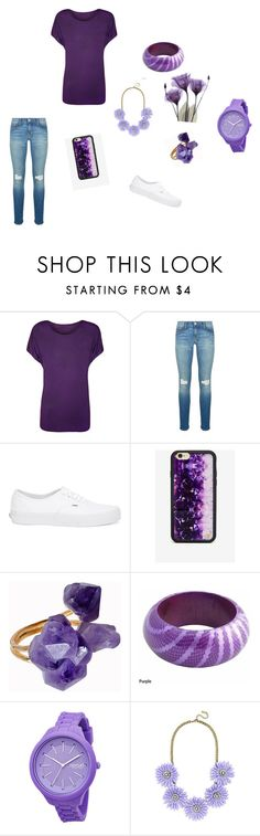 """""""I wear purple for a reason!"""" by meyou-ii ❤ liked on Polyvore featuring WearAll, Rebecca Minkoff, Vans, Wildflower, Helix & Felix, Rip Curl and BaubleBar"""