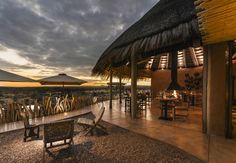 Fresh, local, spicy: In Zannier's first African lodge, Omaanda, the kitchen team serves the best regional ingredients and grills on an open flame outside Namibia's wilderness. Hotels, Nature Reserve, Great Places, Safari, Exterior, Patio, Mansions, Architecture, World