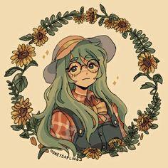 Kawaii Drawings, Art Drawings Sketches, Cool Drawings, Cute Drawings Of People, Cute Art Styles, Cartoon Art Styles, Arte Indie, Arte Sketchbook, Art Anime