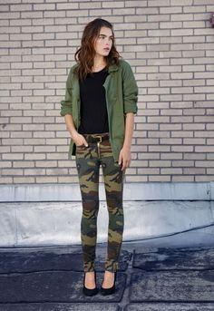 woodland camo skinny jeans