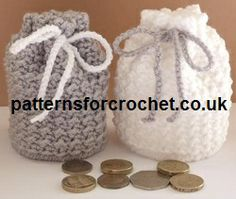 Free crochet pattern for coin pouch from http://www.patternsforcrochet.co.uk/coin-pouch-usa.html