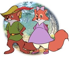 "Young *Robin Hood and Maid Marian* [Disney movie ""Robin Hood"" (1973)]~[Artistic work by: ~pruzjinka on deviantART  2012]  'h4d'120903"