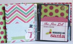 December Daily album created by design team member Rebecca Keppel using our green SN@P! Binder and December Documented collection