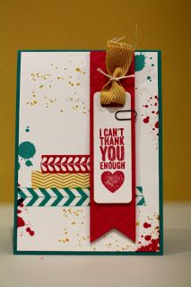 cards by carli: chalk talk, gorgeous grunge, tape it, stampin up