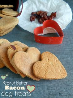 Peanut Butter Bacon Dog Treats - Sugar Dish Me