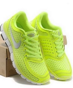 Buy 2014 Nike Free Women Fluorescent Green Volt Silver White with best discount.All Nike Free Womens shoes save up. Discount Nike Shoes, Nike Shoes Cheap, Nike Free Shoes, Cheap Nike, Nike Free Runs For Women, Nike Free Run 3, Nike Women, Air Max Sneakers, Sneakers Nike