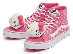 Vans for Hello Kitty. Kids Sneakers, High Top Sneakers, Vans Sk8 Hi Slim, Hello Kitty Backpacks, Hello Kitty Shoes, Vanz, Vans Kids, Hello Kitty Collection, Cute Shoes