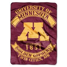 Minnesota Golden Gophers Rebel Throw. Visit SportsFansPlus.com for a Discount Coupon.