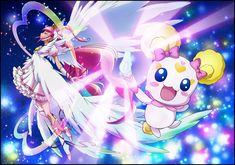 Ultra Cure Happy and Candy from Smile Precure Movie:Big Mix Match In A Picture Book