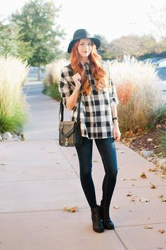 Gingham plaid shirt Perfect for Fall! Love this
