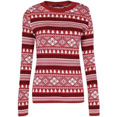 Ava Christmas Tree Jumper ($23) ❤ liked on Polyvore featuring tops, sweaters, shirts, christmas, red sweater, christmas tops, christmas shirts, women sweaters and christmas jumper