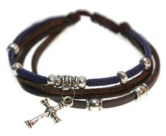 Christian Cross Beaded Leather Bracelet with Adjustable Drawstring in Gift Box * You can get more details by clicking on the image. (This is an affiliate link and I receive a commission for the sales)